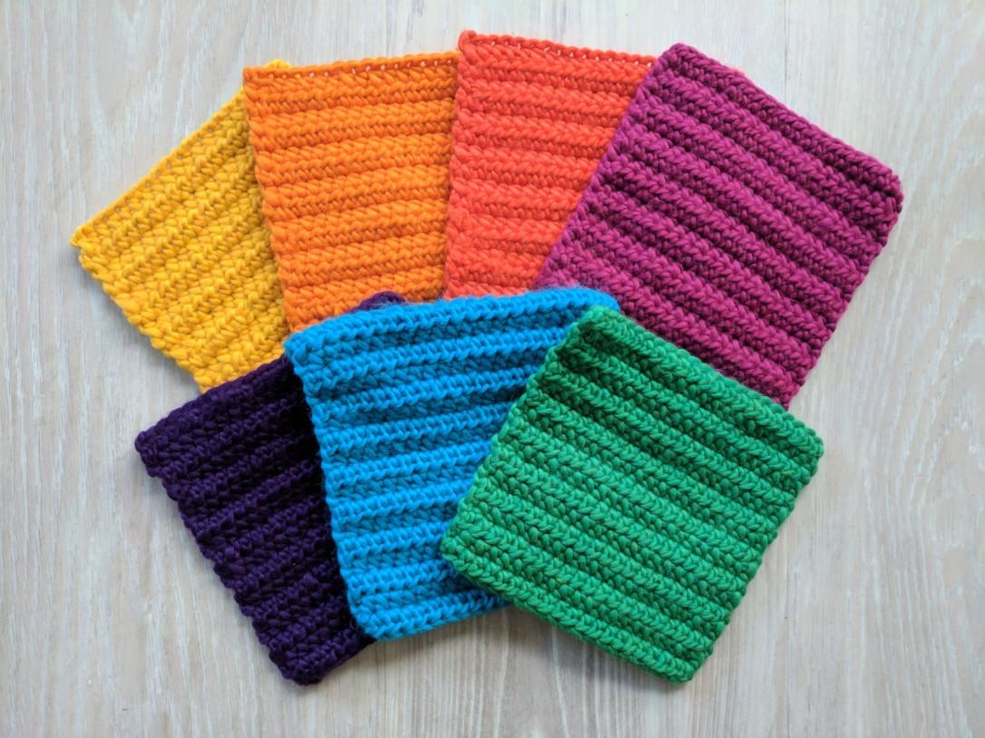Half double crochet (hdc) squares