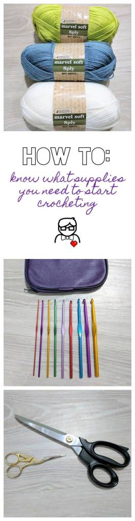 You don't need much at all to start crocheting *right now*! Let me help you get started... [The Sweetest Geek]