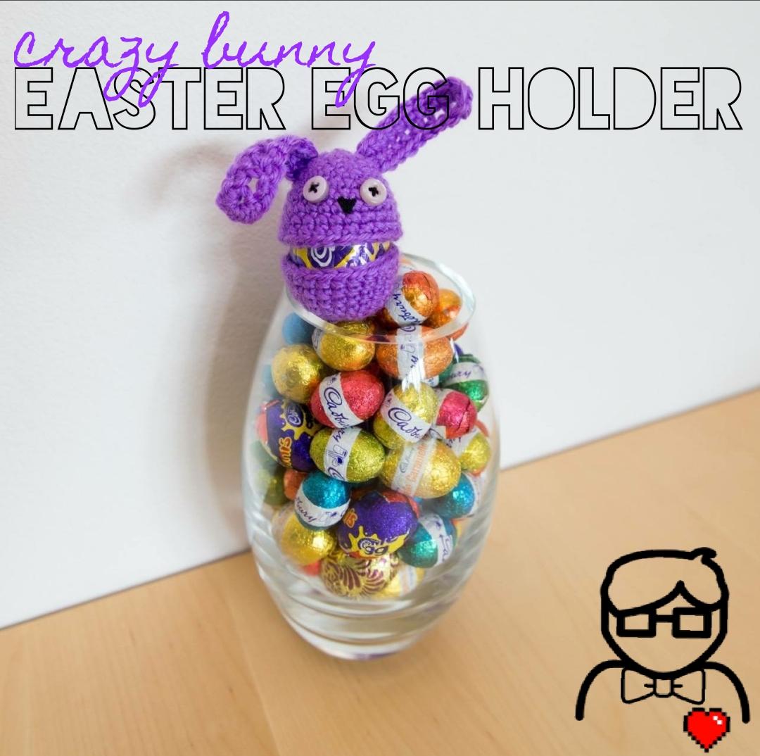 Crazy Bunny Easter Egg Holder