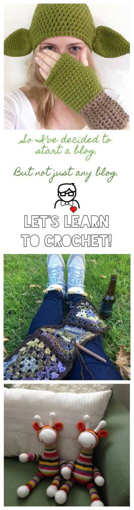So I've decided to start a blog. But not just any blog... A blog dedicated to helping you learn how to crochet! [The Sweetest Geek]