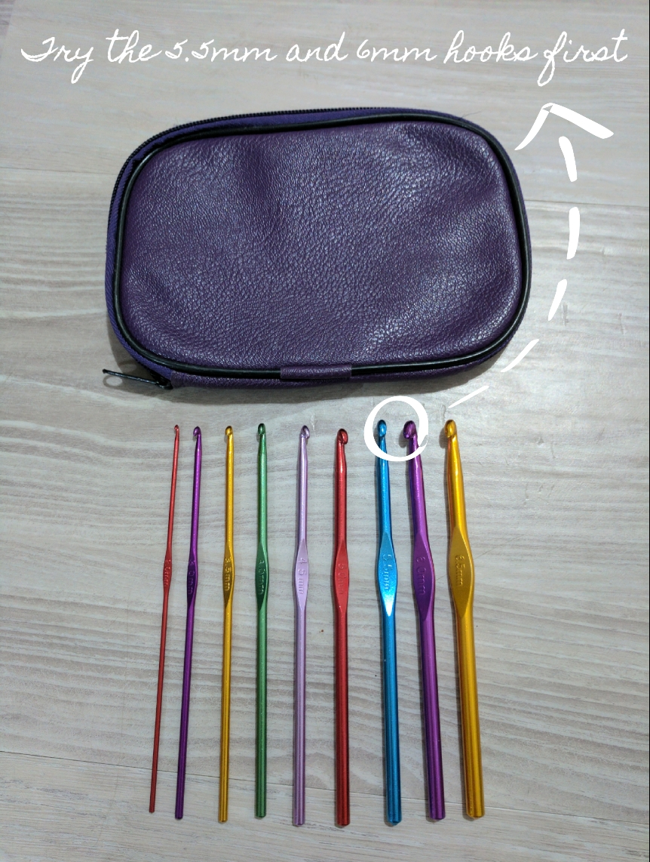 5.5-6mm aluminium crochet hooks