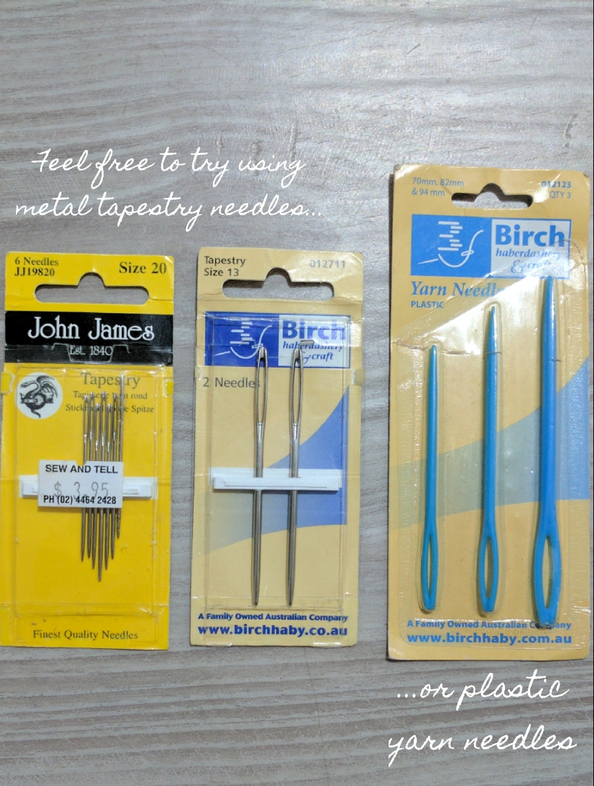 tapestry needles and yarn needles