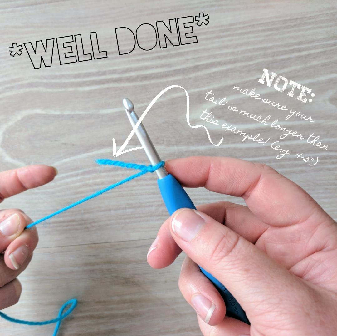 Create a slip knot - done!